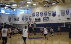 Volleyball game against Elizabeth