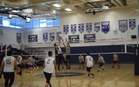 Volleyball game against Elizabeth