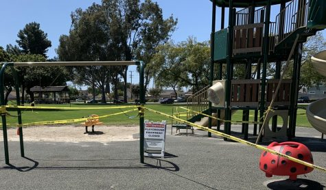 Playground equipment is off limits during the California stay-at-home orders.