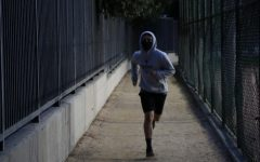 Gabriel Heater runs at Domiguez Park