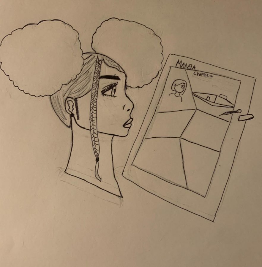 One of Lisa Gray's preliminary sketches as she sets out to reimagine the Manga genre.