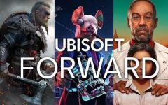 Left to right, Assassin's Creed Valhalla, Watch Dogs Legion, and Far Cry 6. (Image: Ubisoft)