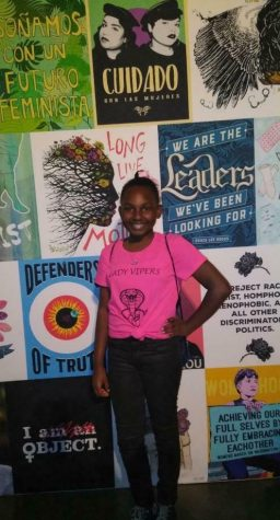 Sophomore Cailah Edwards attending a leadership summit in 2017