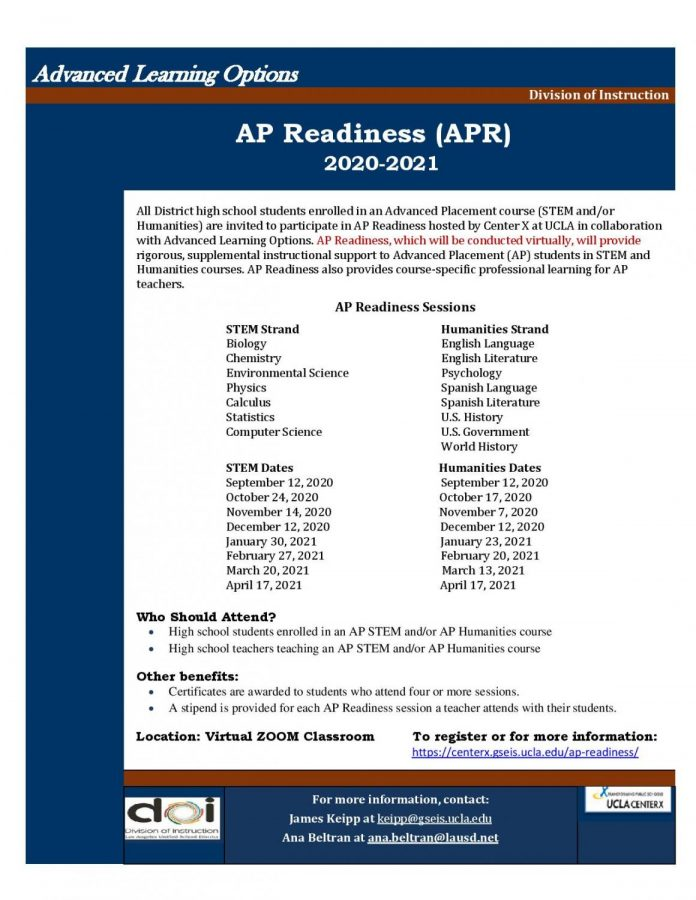 Online Learning Through AP Readiness