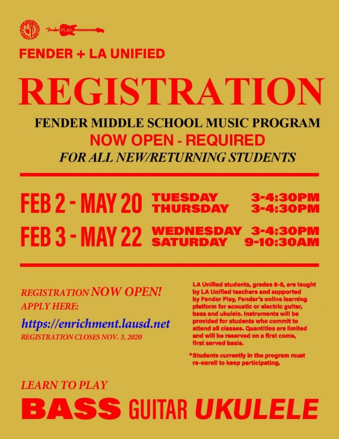 Learning Instruments Through The Fender Program